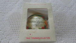 Vintage Hallmark 1979 Our First Christmas Together Glass Ball Ornament Used