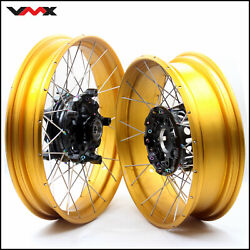 Vmx Racing 3.0/4.5 Tubeless Wheels Set For Bmw R1200gs R1250gs Adventure 13-2020