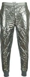 Auth Moncler Metallic Padded Quilted Ski Pants 52/36