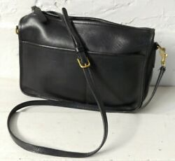 COACH Vintage Leather BEAN Black Crossbody Bag 6017 $30.00