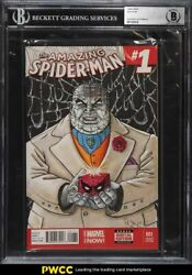 2014 Amazing Spider Man Kingpin Original Art Variant Cover 001 Marvel 1/1 Bas
