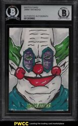2015 Topps Mars Attacks Killer Klowns From Outer Space Sketch Card 1/1 Bas