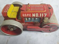 Road Roller Tin Toy Diecast Vintage Rare Japan Collectible Yonezawa F/s Car