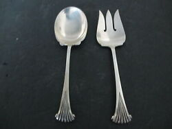 1931 Wallace Tuttle Onslow 2pc Sterling Silver Salad Set