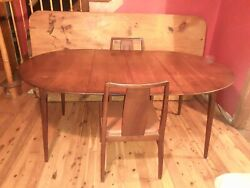 Mcm Conant Ball Dining Table 2 Chairs 2 Leaves Usa