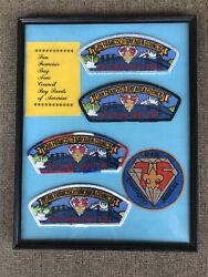 Framed Boy Scout Vintage Memorabilia - Patches Sfbac 1985 Limited Quantity 200