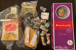 American Girl 2016 Doty Lea Clark With Table Chair Grill Accessories Unopened