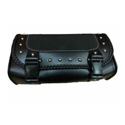 Saddlebag Motorcycle PU Leather Tool Pouch Fork Bag Roll Barrel Bags Cafe Racer $15.80