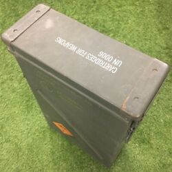 Military Issued 81mm Mortar Ammo Box Metal Storage Container Tool Box