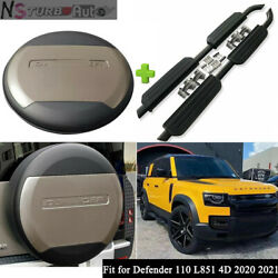 Fit For Defender 110 L851 4d 2020 2021 Side Steps Running Boards Tire Tyre Cover