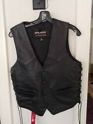 Unisex Menand039s/womenand039s Vintage Classic Motorcycle Vest