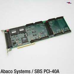 Abaco Systems Sbs Pci-40apci Card Karte Four 4x Slot Industry Pack Carrier