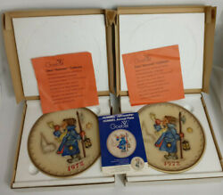 Goebel M. J. Hummel 2nd Annual And Annual Collector Plates - 1972 West Germany
