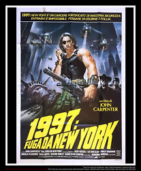 Escape From New York 39 X 55 Italian Two Sheet Movie Poster Original 1981