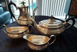 Sheffield Silver Plated Epns A1 Vintage Tea And Coffee Service, 4 Piece Set