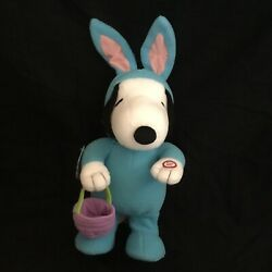 Hallmark Peanuts EASTER BEAGLE SNOOPY Plush Sound Motion New w Tags