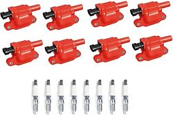 Acdelco Double Platinum Spark Plug + Performance Ignition Coil Set For Chevrolet