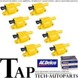 Acdelco Double Platinum Spark Plug + Racing Ignition Coil For Chevrolet 4.8l V8