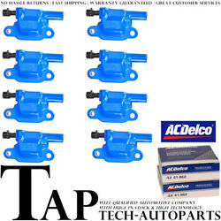 Acdelco Double Platinum Spark Plug + Energy Ignition Coil Set For Chevrolet 3500