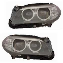 Xenon Headlight Set Left And Right D1s Black For Bmw 5er Touring