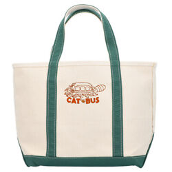 [gbl] My Neighbor Totoro L.l.bean Collabo Boat And Tote Bag Cat Bus Green New