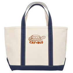 [gbl] My Neighbor Totoro L.l.bean Collabo Boat And Tote Bag Cat Bus Blue Japan