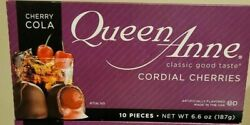Lot Of 4 Queen Anne Cherry Cola Cordial Cherries 6.6oz Boxes 40 Pieces Total