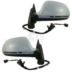 Exterior Mirror Set For Audi A4 B8 Type 8k Year 07-09 Electric 14-pin Heated