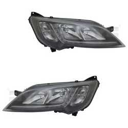 Headlight Set Left And Right Chrome H7/h7/led With Daytime For Fiat Ducato