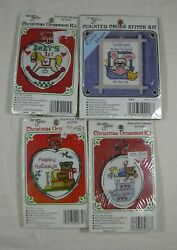 4 New Berlin Cross Stitch Christmas Ornament And Kitchen Magnet New Baby Frame Lot