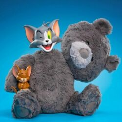 Tom And Jerry 12 Charcoal Grey Collectible Plush By Warner Bros X Soap Studio