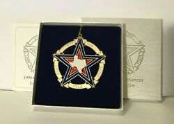 1999 Texas State Capitol Ornament Mint In Box With Original Paperwork