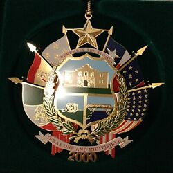2000 Texas State Capitol Ornament Mint In Original Box With Paperwork
