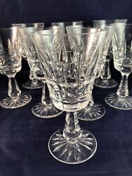 8 Waterford Kylemore Cut Crystal Claret Wine Goblets - Product Of Ireland