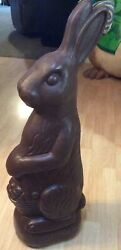 Vintage Don Featherstone- Brown Easter Bunny Rabbit Blow Mold