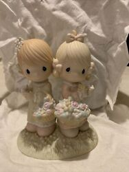 """Precious Moments """"to My Forever Friend"""" Two Girls Sisters Twins 100072 No Box"""