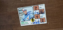 1973 Topps Expos Manager Coaches Card Quad Signed Mauch Doby Mclish Bristol 377