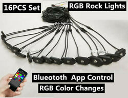 Jhb 16pods Set Rgb Color Changing Blue-tooth App Controlled Cars Led Rock Lights