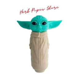 Baby Yoda Glass Bowl Smoking Pipe|starwars Collectible Silicone Pipes
