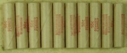 10x Wheat Penny Roll Rolls Cent Lincoln Ends Vary Lot 50c Mixed Date San Fran
