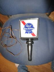Old Pabst Blue Ribbon Beer Carriage Light Shaped Electric Sign Wall Mount