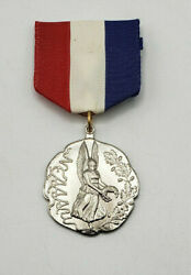 `new England Amateur Athletic Union Neaaau Award Sport Medal Red White And Blue