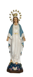 Blessed Virgin Mother Mary Our Lady Of Grace 24 Inch Statue With Crown And Halo