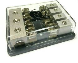 Agu Fuse Distribution Block One 0/2, Two 4 Ga In Four 8 Gauge Awg Out 12 Volt