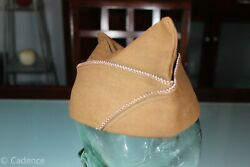 Us Ww2 Army Overseas Garrison Hat Cap Medical Tailor Made Chocolate 7 1/8 157