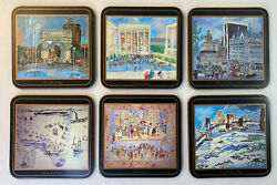 Vintage Pimpernel Signature Collection New York City, Nyc Coasters- Set Of 6