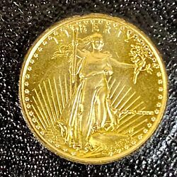 Us 1986 5 St-gaudens American Eagle Gold Coin 3.393g Certificate Authenticity