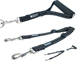 Leashboss Duo Adjustable Double Dog Leash For Large Dogs Reflective No Tangle
