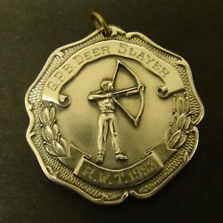Deer Slayer Award Sterling Medal 1st Buck Shot With Bow And Arrow Baltimore 1953