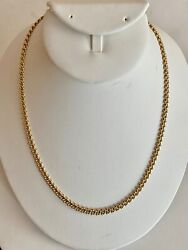 17 1/2- Solid .375 Fine Gold Italian Chain, See Other Gold Jewelry And Coins